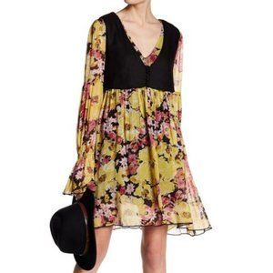 NWT Free People Alice Vested Long Sleeve Dress